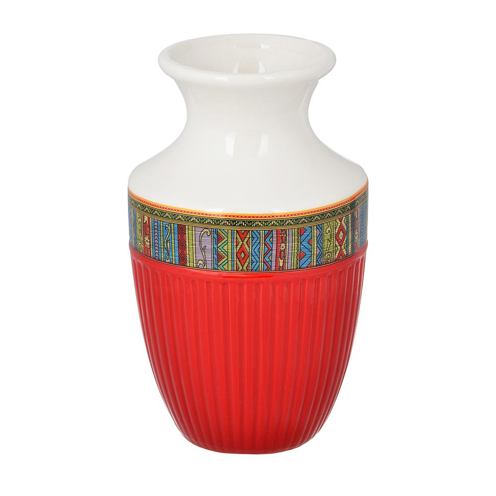 """Ваза для цветов 15х9 см, керамика, MILLIMI """"Этника"""""""