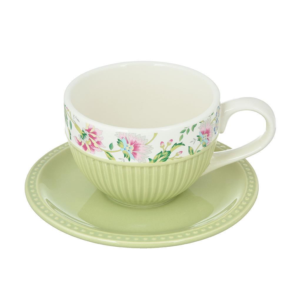 "Чайный сервиз 2 предмета, керамика, MILLIMI ""Шарм"""