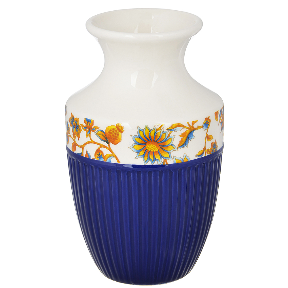 """Ваза для цветов 15х9 см, керамика, MILLIMI """"Ноктюрн"""""""