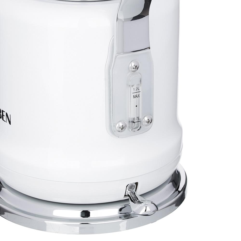Чайник электрический 1,2 л LEBEN, 2200 Вт,нержавеющаясталь, белый