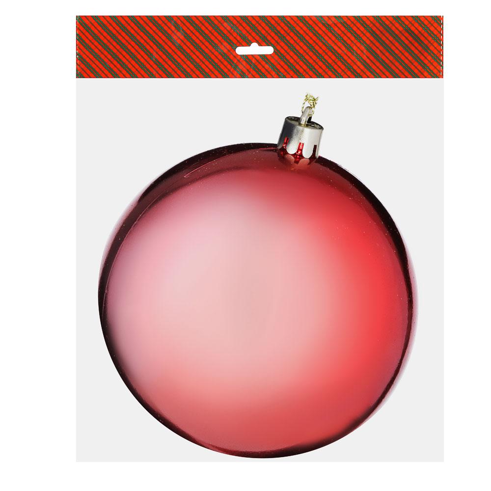 Елочный шар СНОУ БУМ 10 см, пластик, 1 шт, в пакете, коралловый