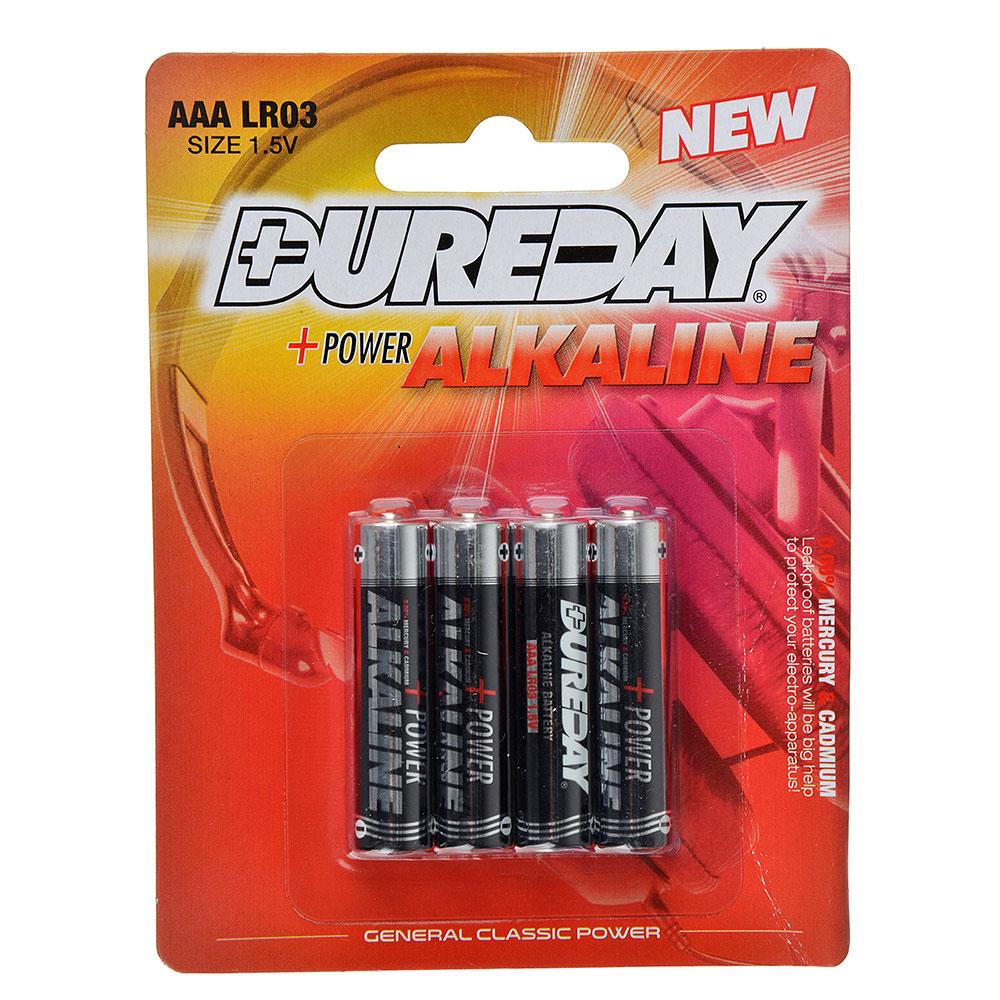 Батарейки Dureday Classic 4 шт щелочная, тип AAA (LR03), 1,5В