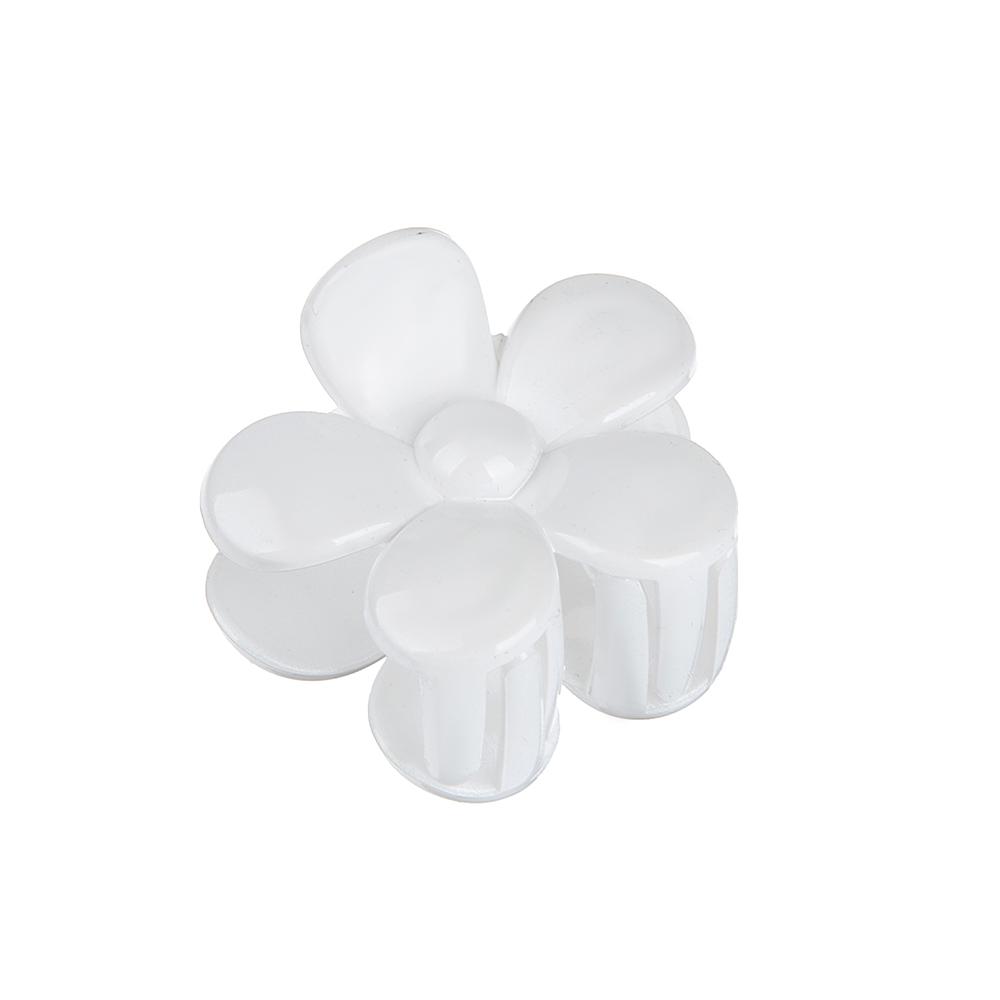 Заколка-краб, пластик, 4,5см, 2 дизайна, 2 цвета