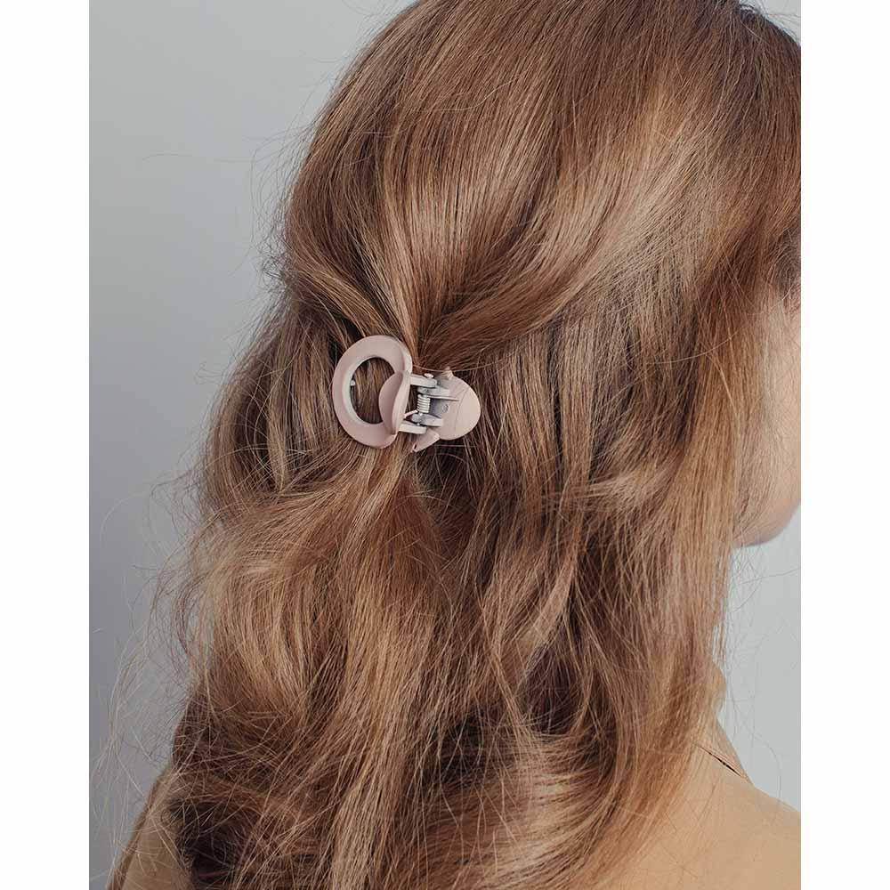 Краб для волос, пластик, 4см, 6 цветов, ЗК19-09