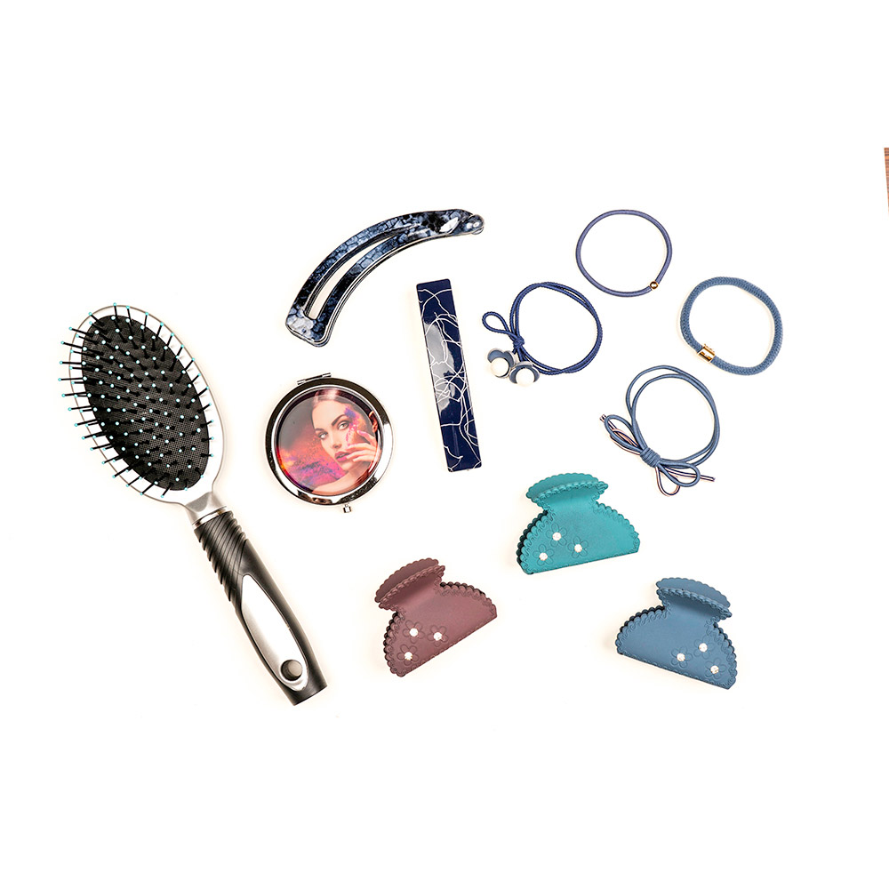 Краб для волос, пластик, 6см, 12 цветов, ЗК19-11
