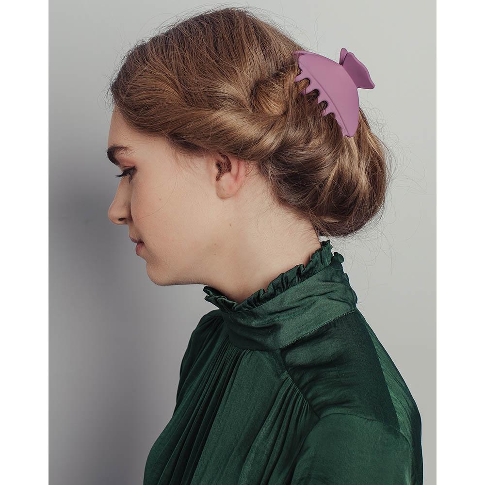 Краб для волос, пластик, 8см, 12 цветов, ЗК19-12