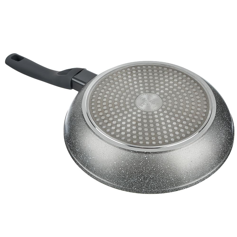 SATOSHI Стенвиль Сковорода литая d. 24см, антипригарное покрытие мрамор, индукция