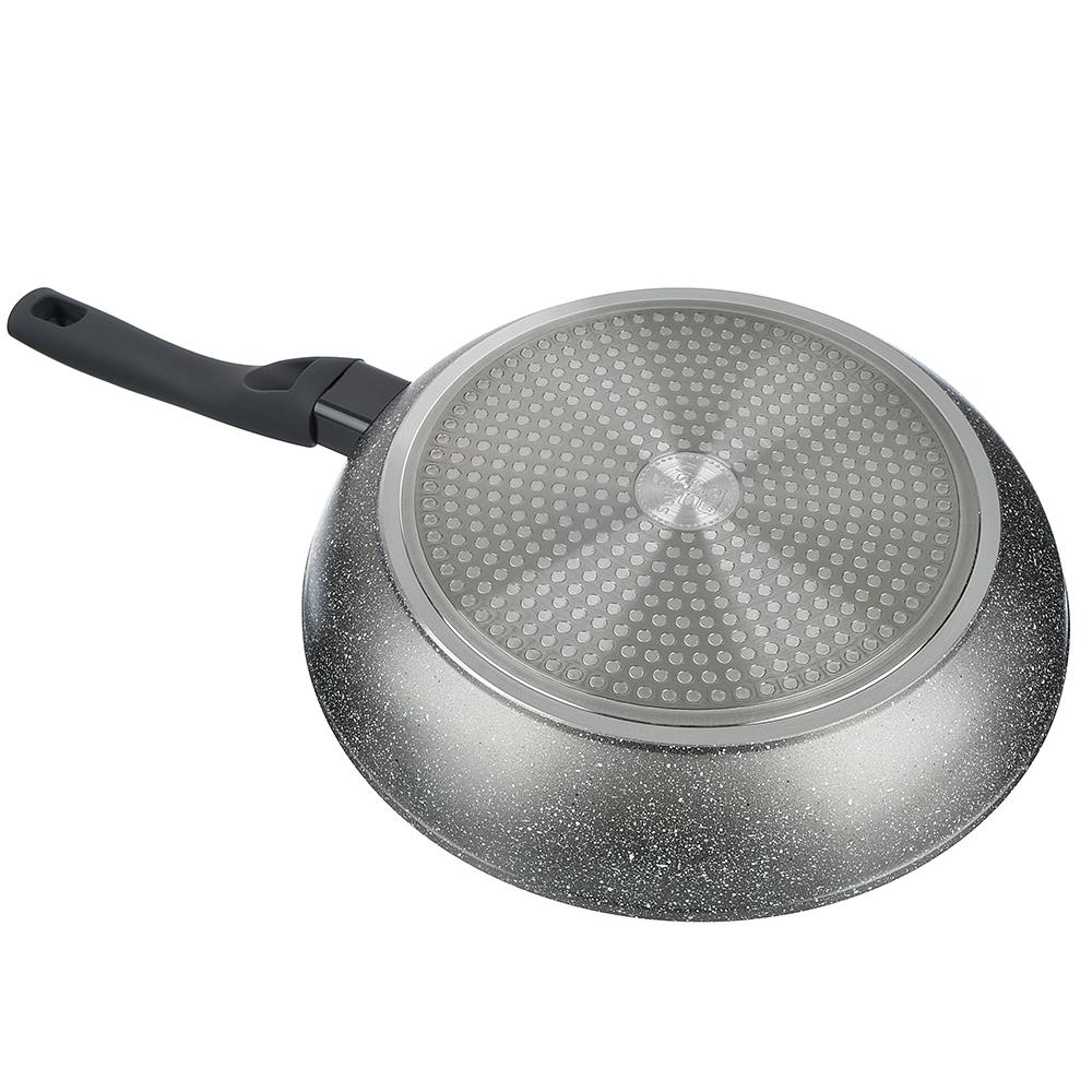 SATOSHI Стенвиль Сковорода литая d. 28см, антипригарное покрытие мрамор, индукция