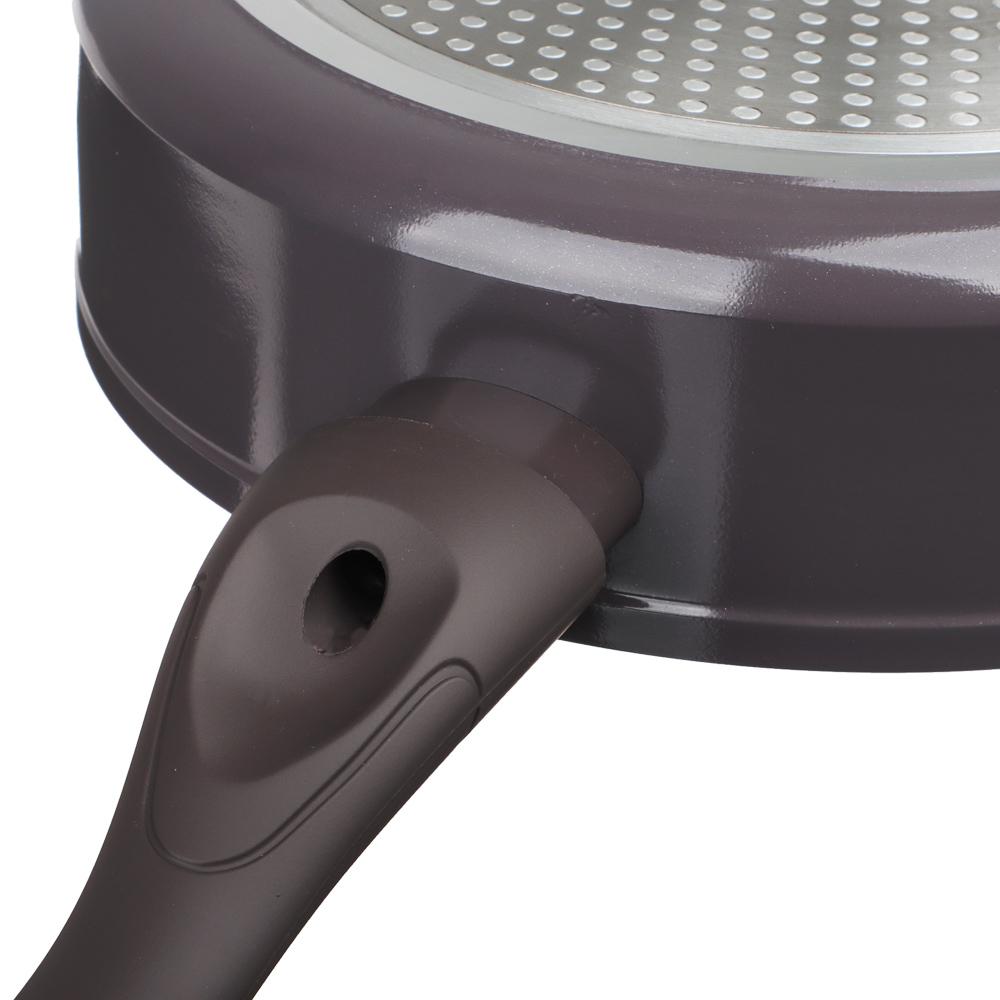 SATOSHI Валькур Сковорода литая глубокая d. 24см, антипригарное покрытие мрамор, индукция
