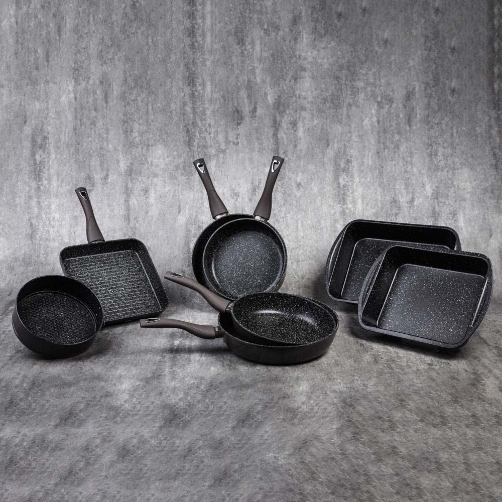 SATOSHI Валькур Сковорода литая d. 22см, антипригарное покрытие мрамор, индукция
