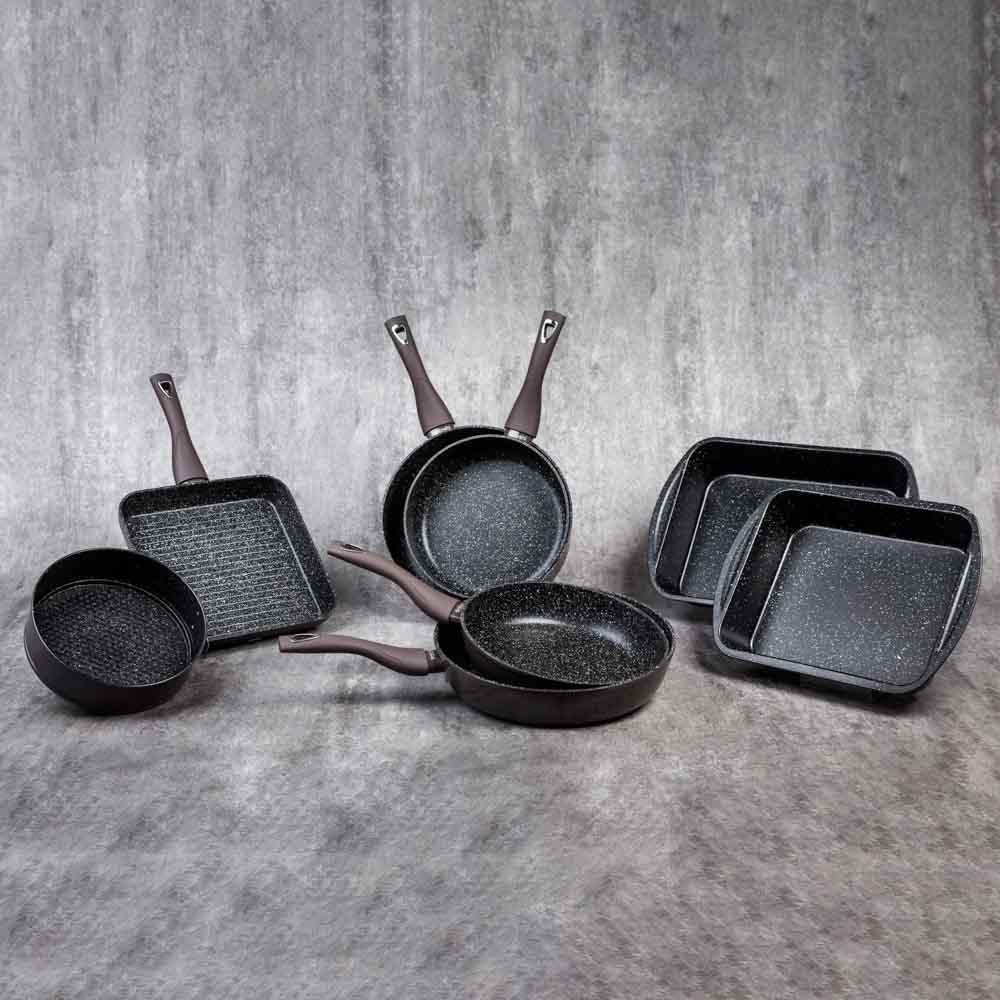 SATOSHI Валькур Сковорода литая d. 26см, антипригарное покрытие мрамор, индукция