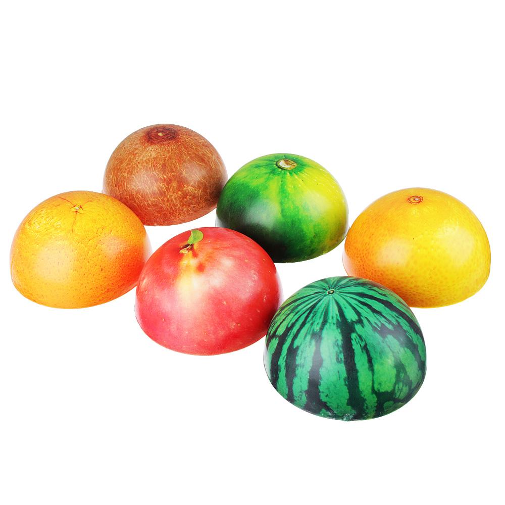 Мялка в виде половинки фрукта, ПУ, 10х5см, 4-6 дизайнов