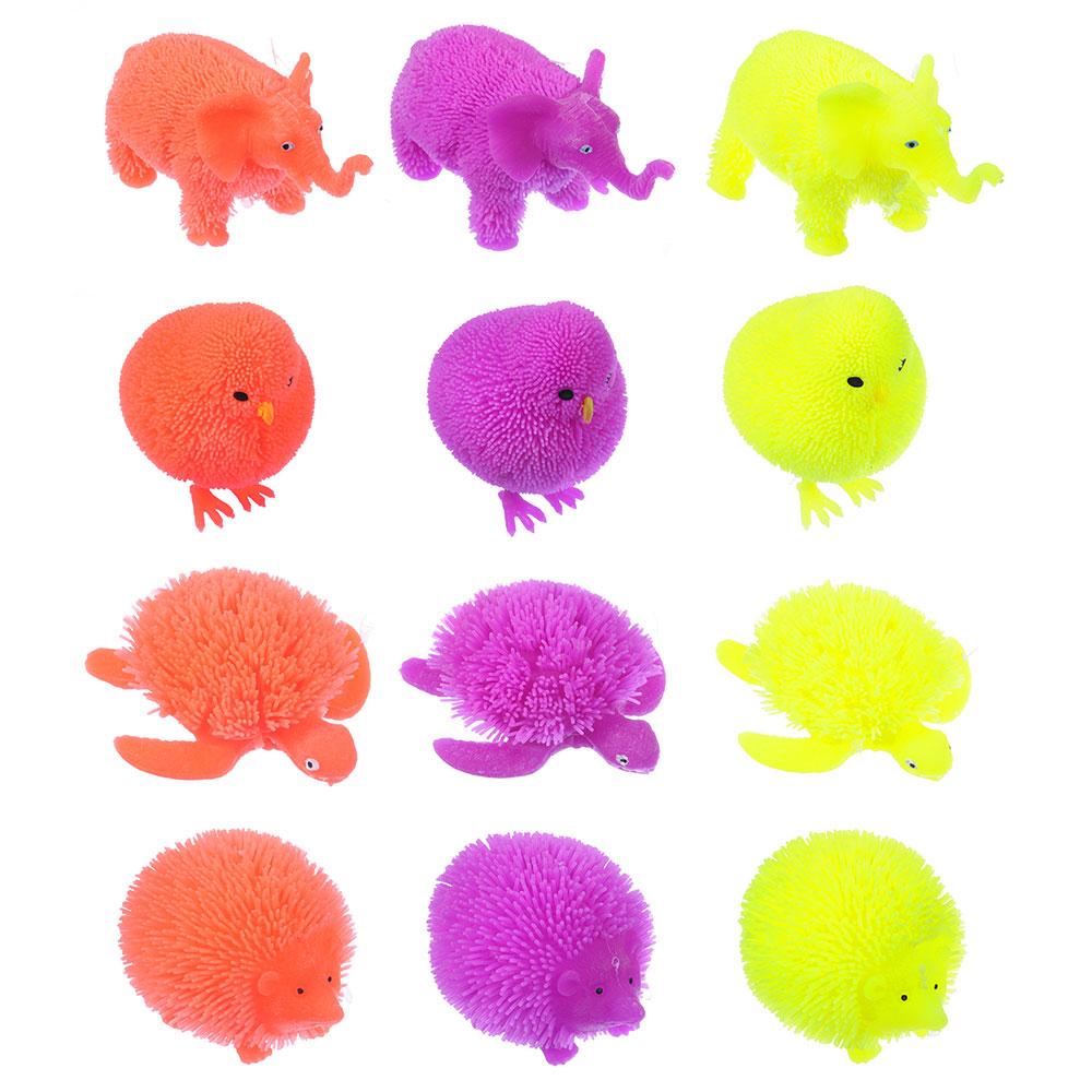 """LASTIKS Игрушка резиновая """"Пушистик"""" в виде животного, свет, 8-11х8-9см, резина, 4-8 дизайнов"""