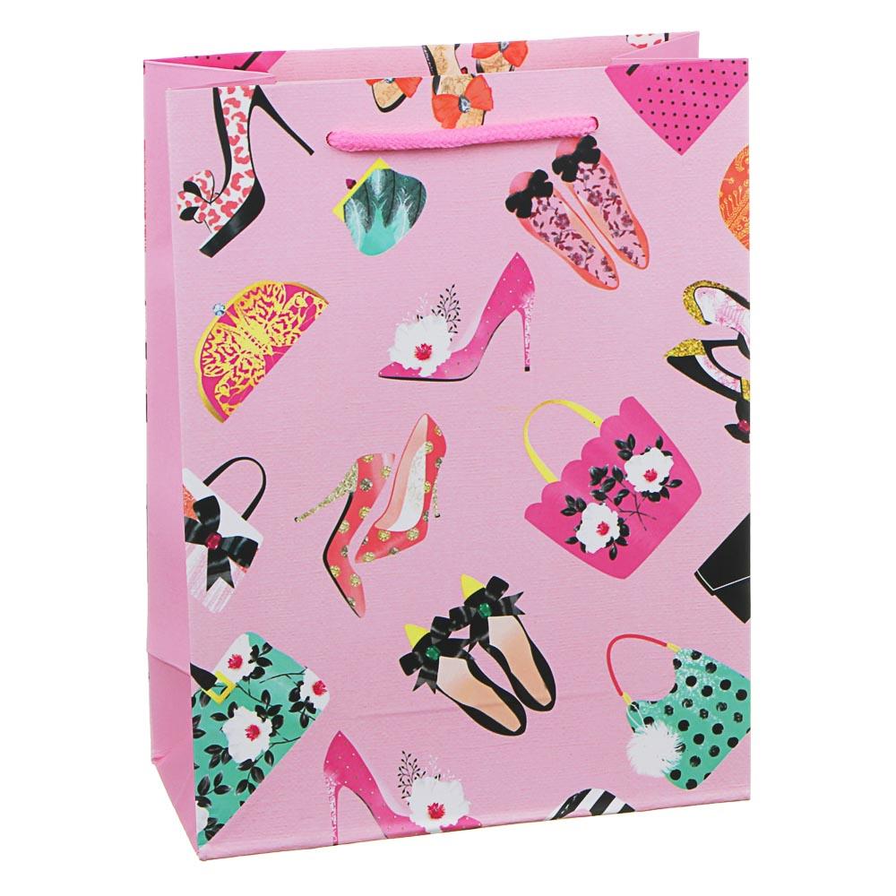 Пакет подарочный, высококачественная бумага, 18х24х8,5 см, 12 дизайнов, арт.1