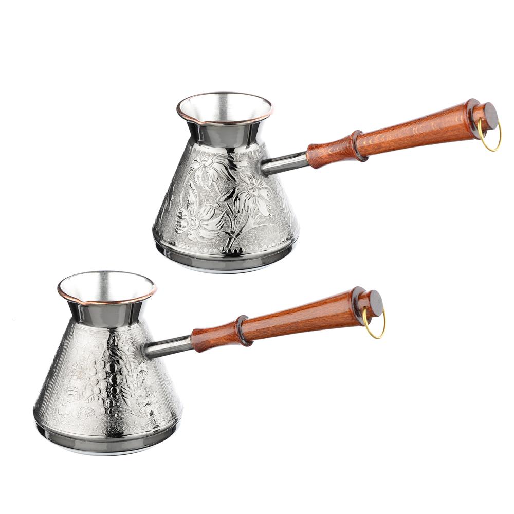 Турка для кофе 540 мл медная, 2 дизайна