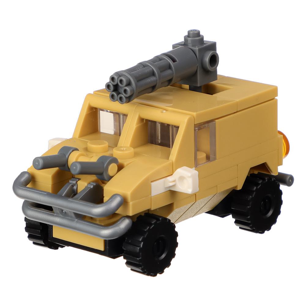 """ИГРОЛЕНД Конструктор """"Армия"""" мини фигурки солдат, 25-30дет., пластик, 10х7х3см, 8 дизайнов"""