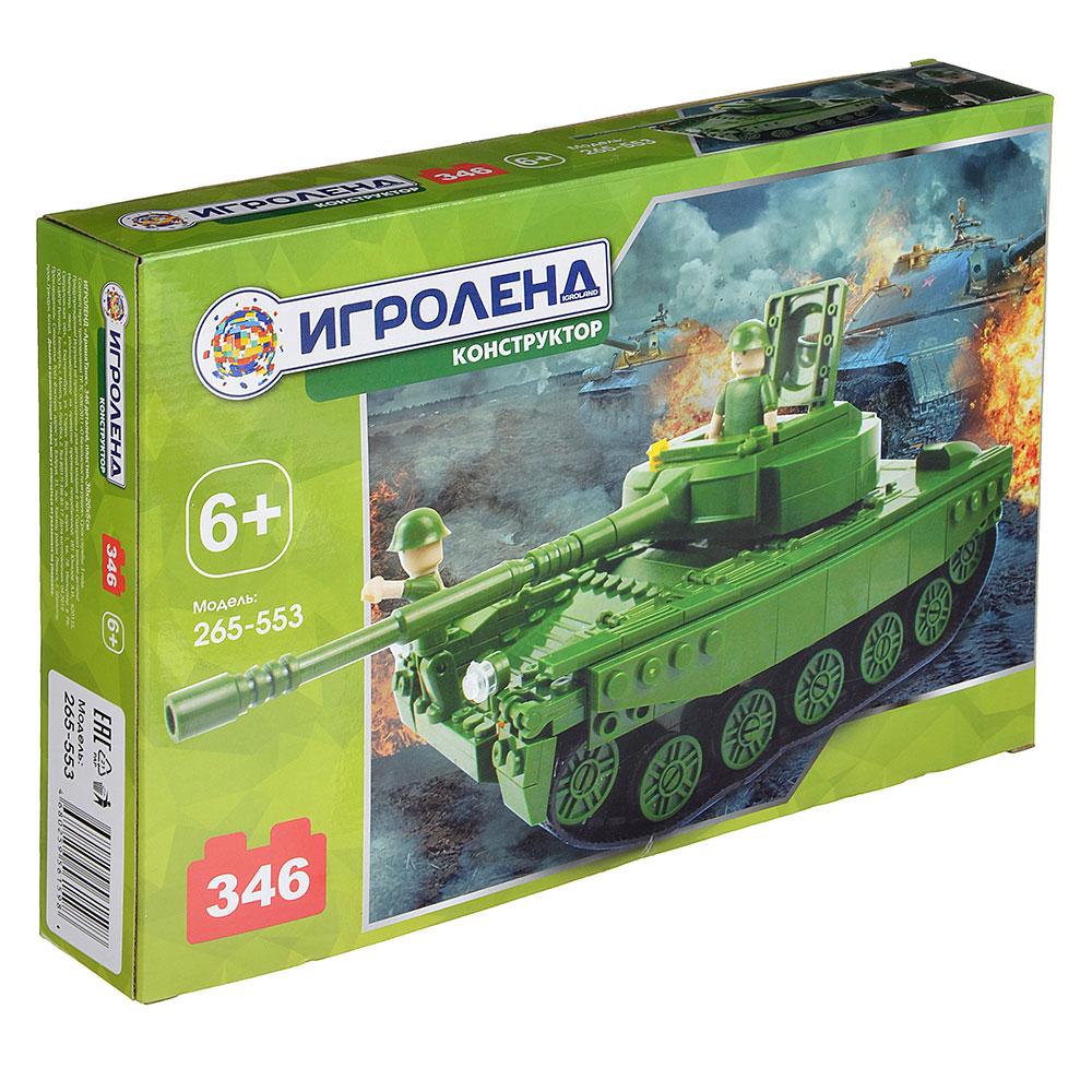 "ИГРОЛЕНД Конструктор ""Армия.Танк"", 346 дет., пластик, 30х20х5см"