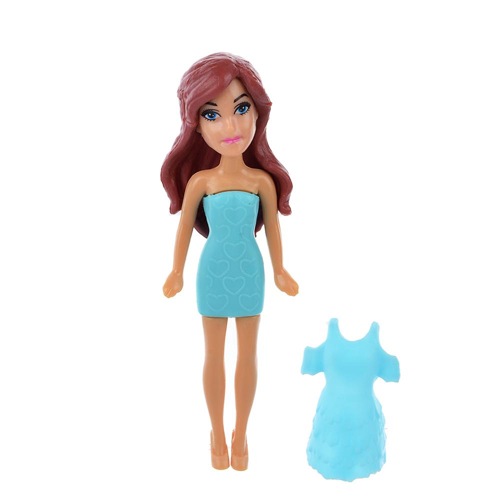 ИГРОЛЕНД Набор игровой маленькая куколка с аксесс., 3пр., аромат, пластик, 12х9х2,3см, 4 дизайна