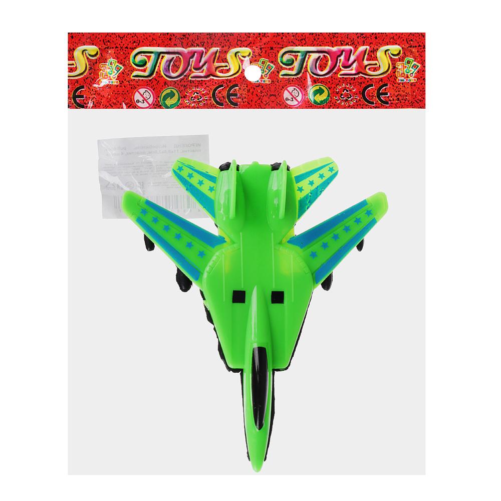 ИГРОЛЕНД Истребитель, pull-back, пластик, 11х9,5х3,5см, пластик, 4 цвета