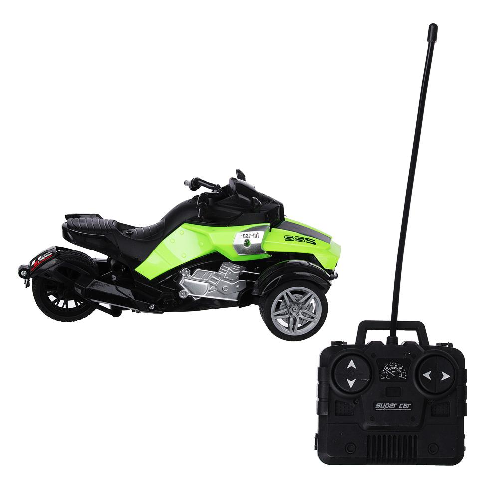 ИГРОЛЕНД Трицикл на радиоуправлении, 5АА, пластик, 20,5х12х8,8см,4 дизайна