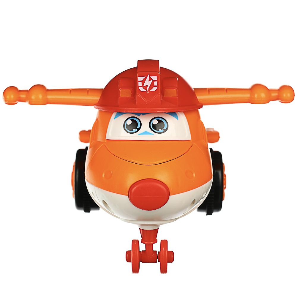 ИГРОЛЕНД Самолет инерционный, трансформация при столкновении, пластик, 11х5х6см, 3 дизайна