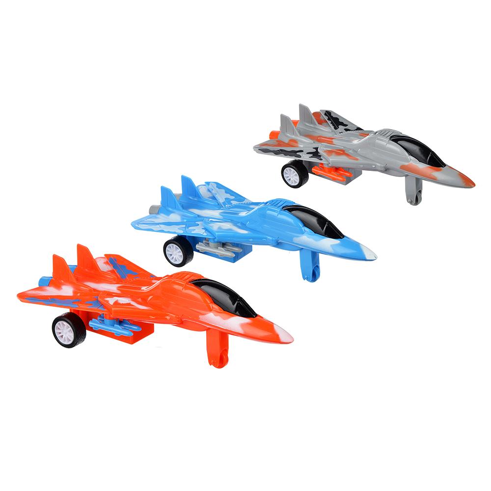 ИГРОЛЕНД Самолет инерционный со складными крыльями, пластик, 14х4х10см, 3 дизайна