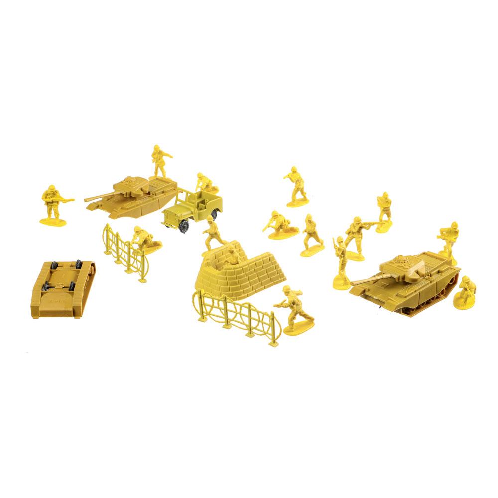 ИГРОЛЕНД Набор солдатиков 100шт., пластик, 26х33х5см, 2 дизайна