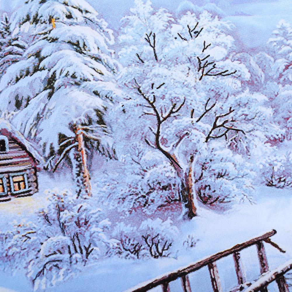 Зимняя ночь Салатник круглый, 19см, стекло