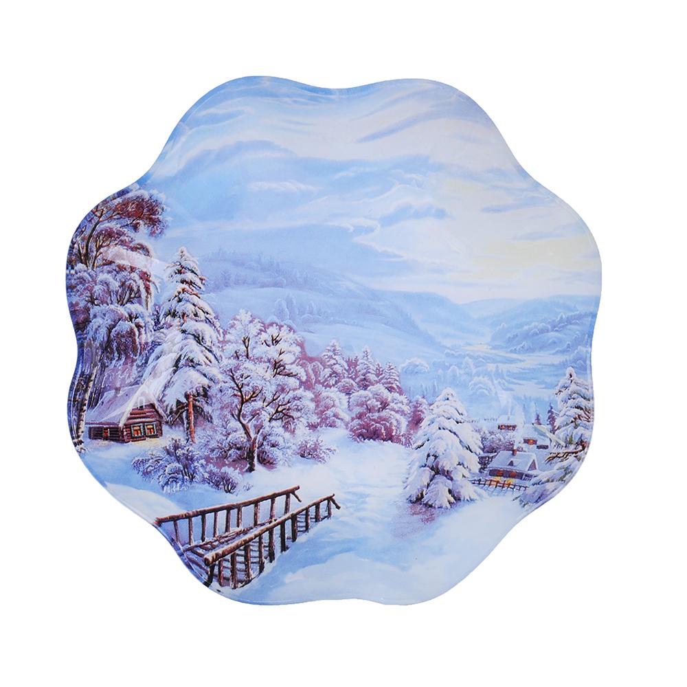 Зимняя ночь Салатник круглый, 23см, стекло