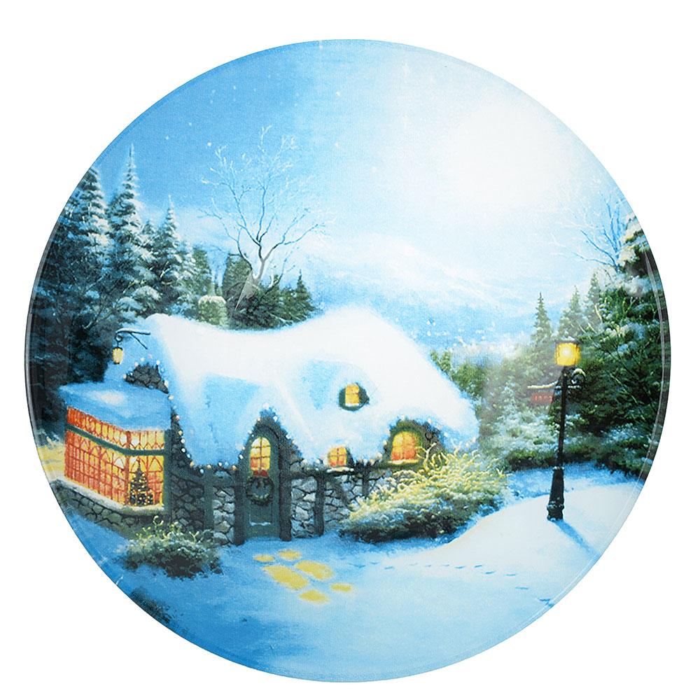Рождественская сказка Салатник круглый, 18см, стекло
