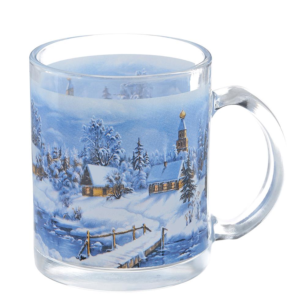 Зима в деревне Кружка, 320мл, стекло, 3 дизайна