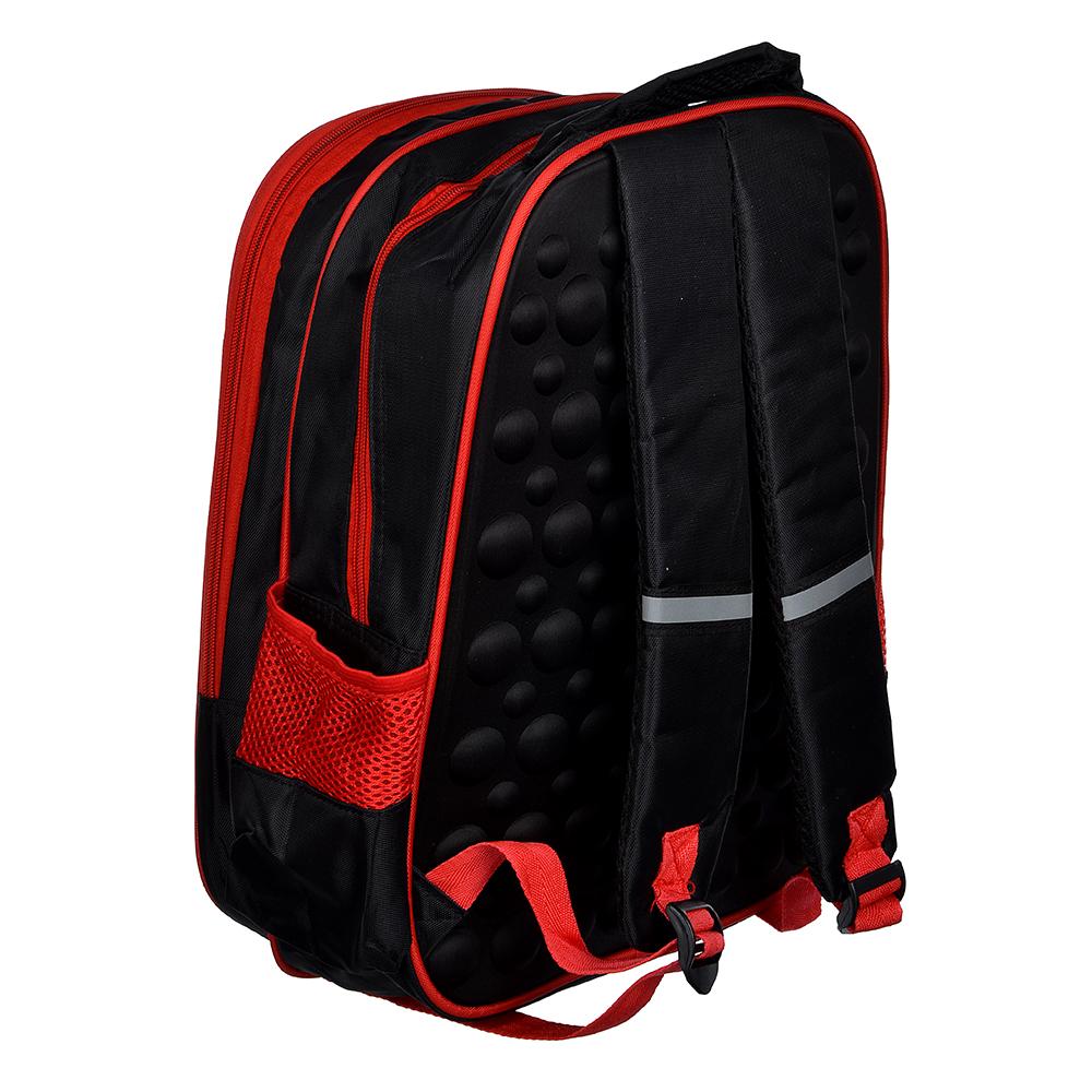 Рюкзак школьный Суперкар 38x31x16см, 2 отделения, 2 кармана, полиэстер