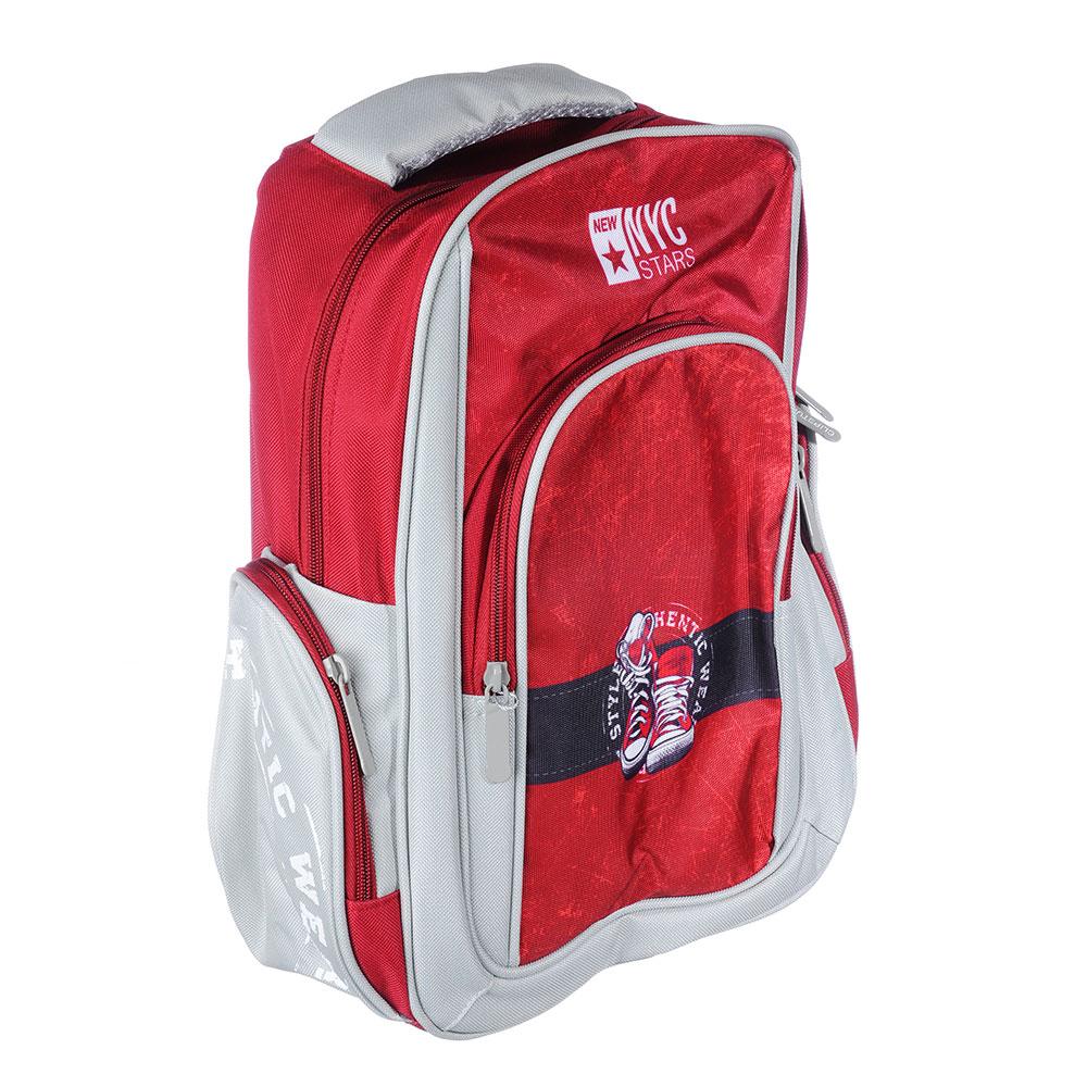 Рюкзак подростковый Гамшуз 38x30x14см, 1 отделение, 3 кармана, полиэстер