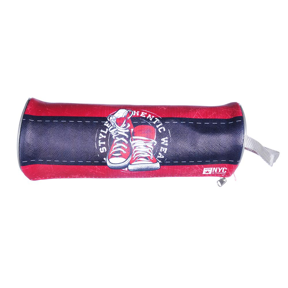 Гамшуз Пенал, мягкий круглый, 21х7х7см, ПВХ 0,8мм, с ручкой, с антисминаемым вкладышем