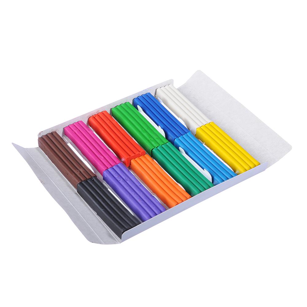 МЯУ! Пластилин 12 цветов 240 грамм в картонном выдвижном пенале