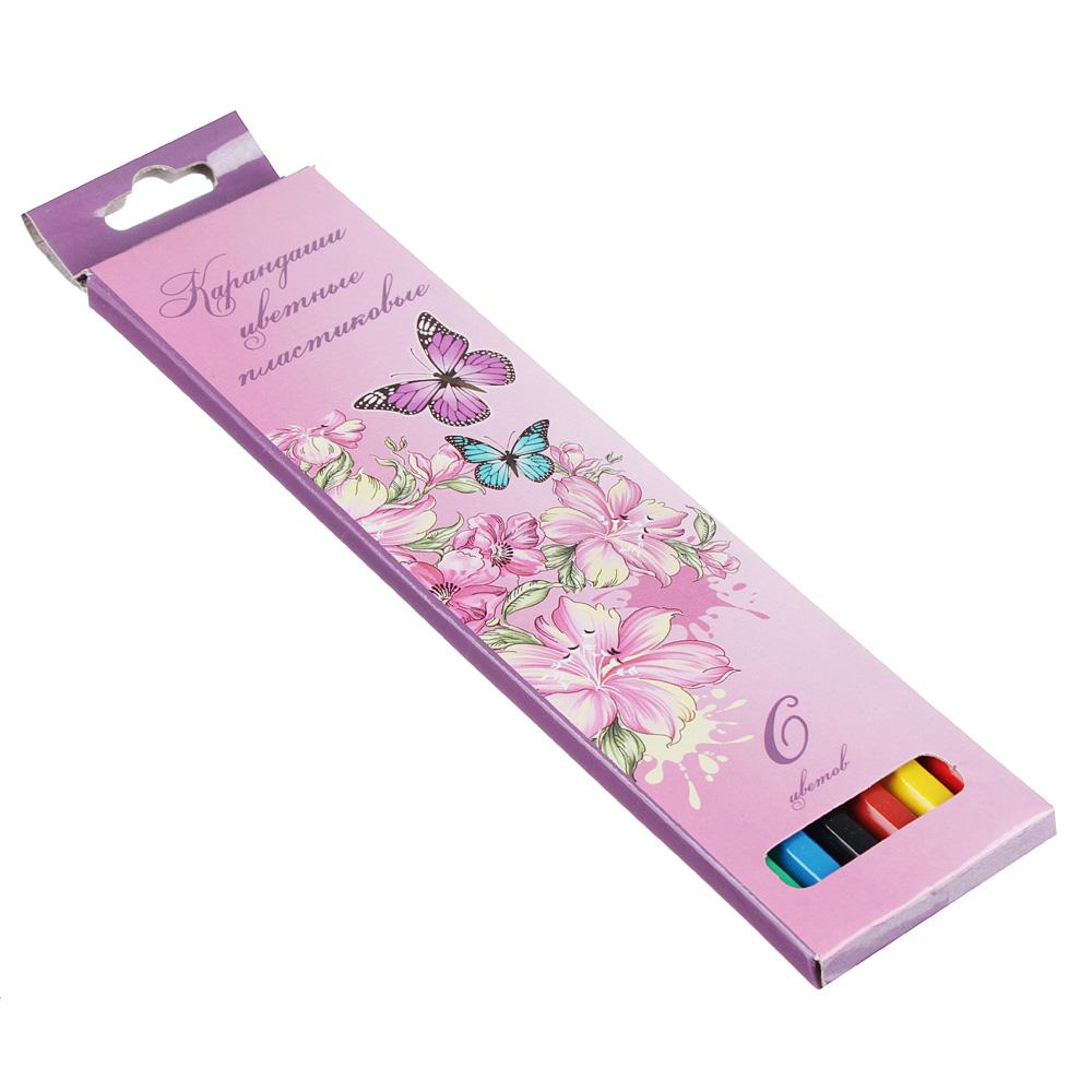 Волшебный Полет Карандаши, 6 цветов, шестигранные заточенные, пластик, в карт.коробке с подвесом