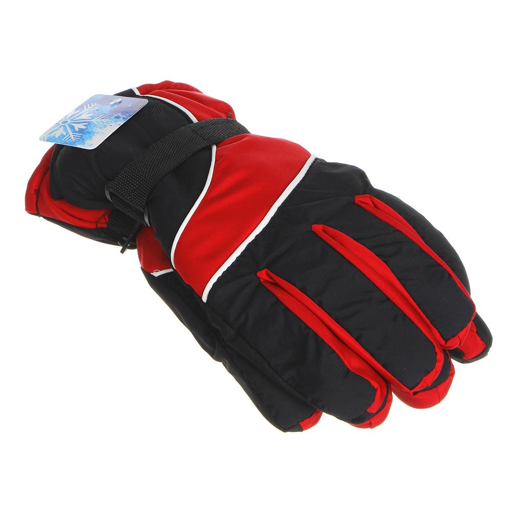 Перчатки мужские горнолыжные, размер универсальный,100% полиэстер, 4 цвета