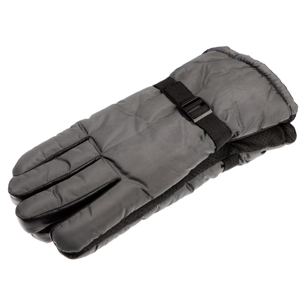 Перчатки мужские горнолыжные, р-р 22, 100% полиэстер, 3 цвета, ПВ19-3