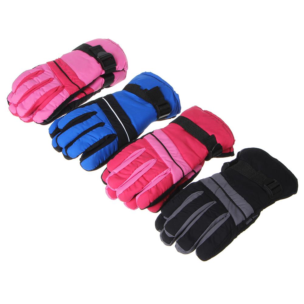 Перчатки молодежные горнолыжные, размер универсальный,100% полиэстер, 4 цвета
