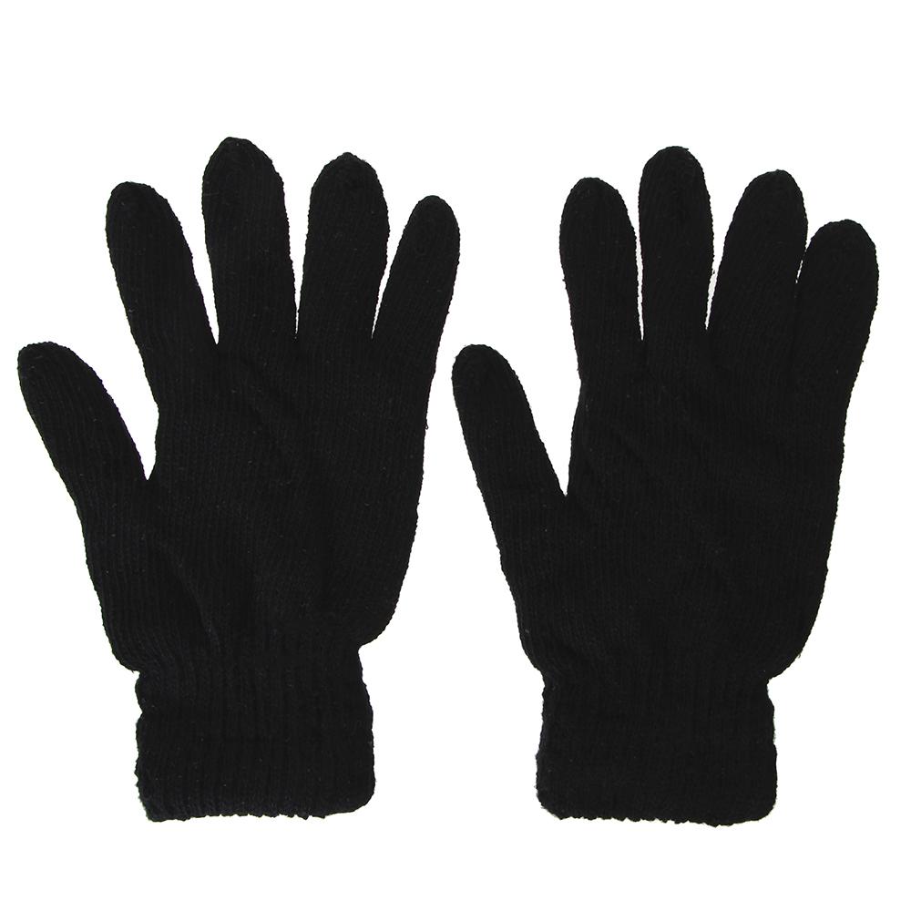 Перчатки мужские, размер универсальный, 100% акрил, цвет черный