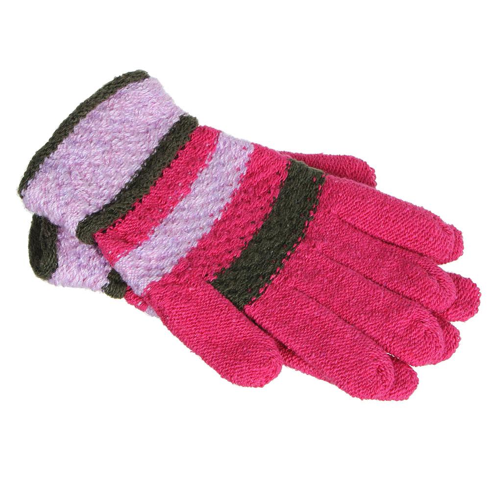 Перчатки молодежные, размер универсальный, 100% полиэстер, 4-6 цветов