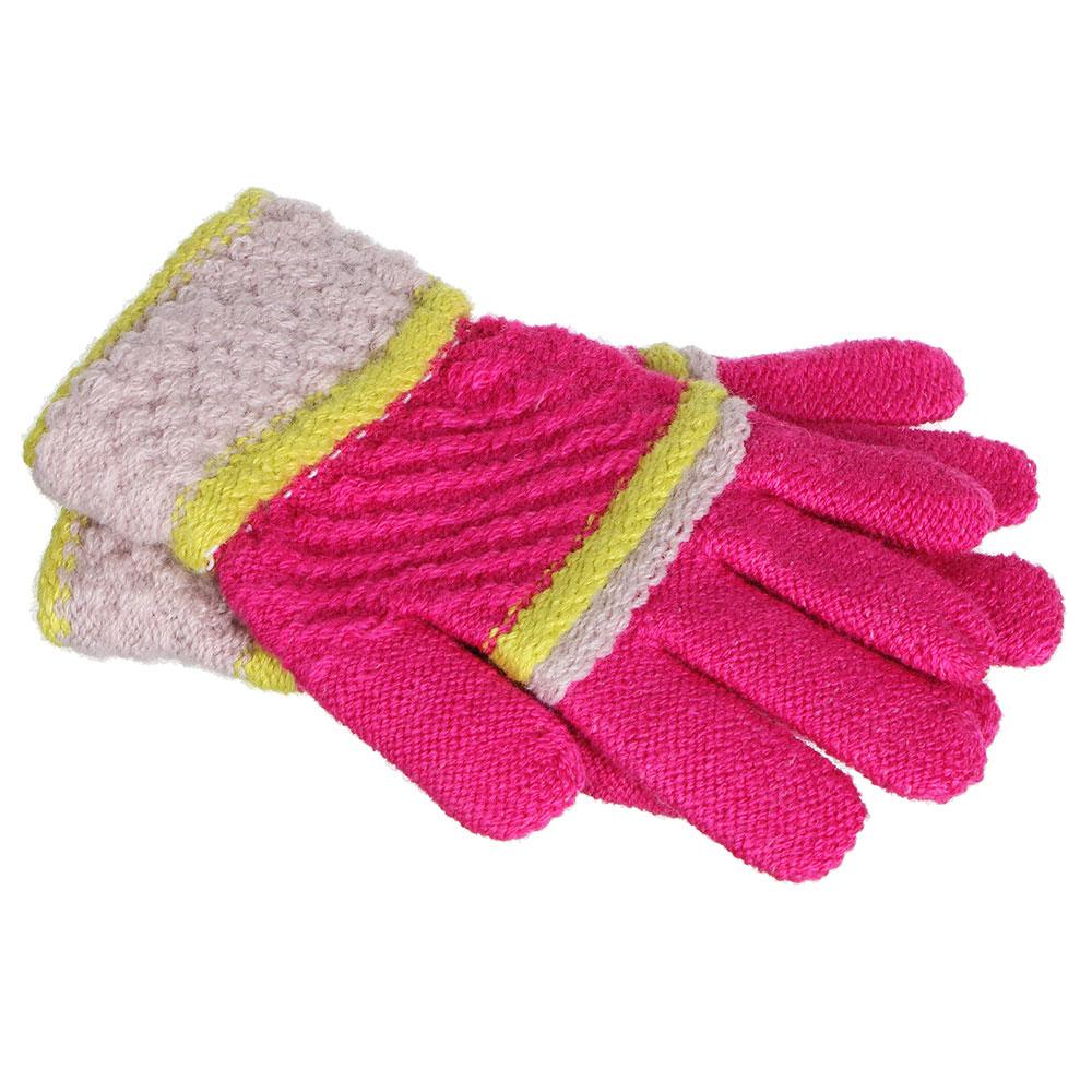 Перчатки детские, 100% полиэстер, 4-6 цветов, ПВ19-20