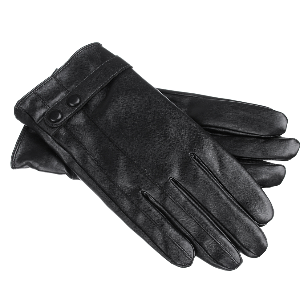 Перчатки мужские, размеры M/L, ПУ, 3 дизайна, ПВ19-30