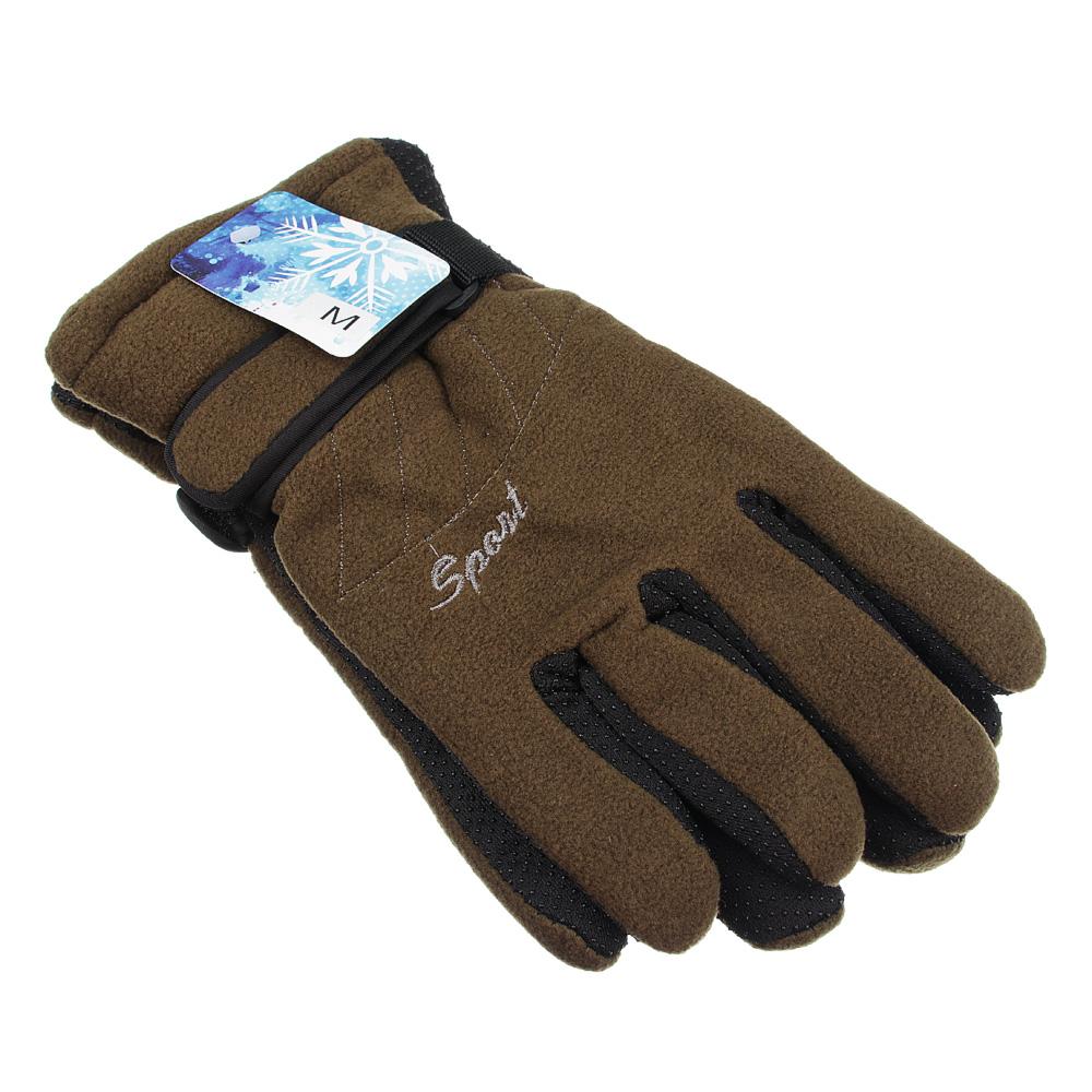 Перчатки мужские, размеры M/L, 100% полиэстер, 4 цвета