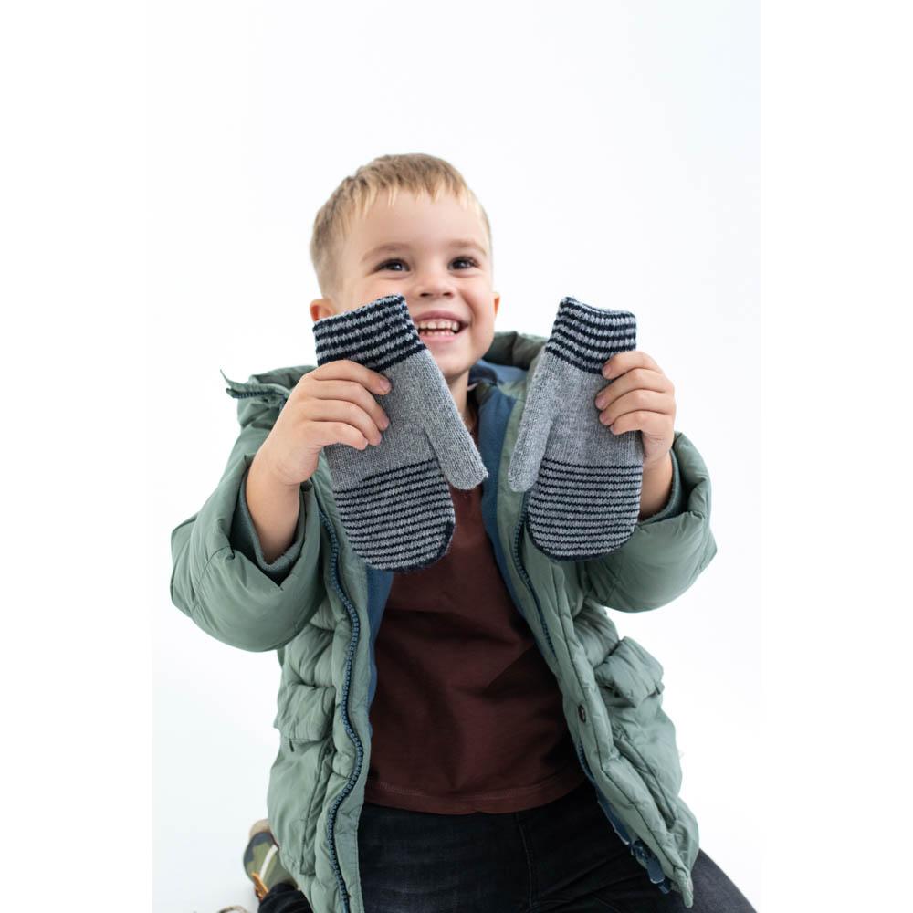 Варежки детские, 7-10 лет, 100% акрил, 3-4 цвета, ПВ19-54