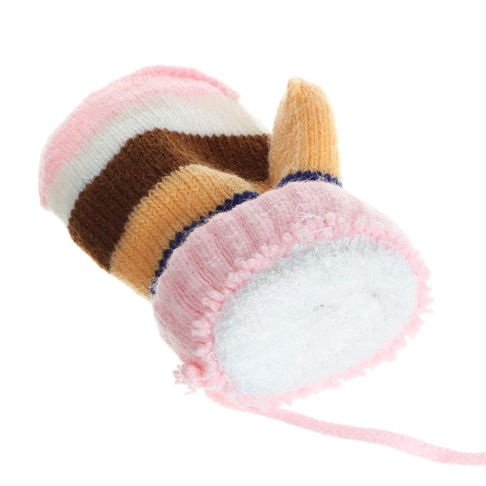 Варежки детские на веревке, 5-7 лет,100% акрил, 4 цвета
