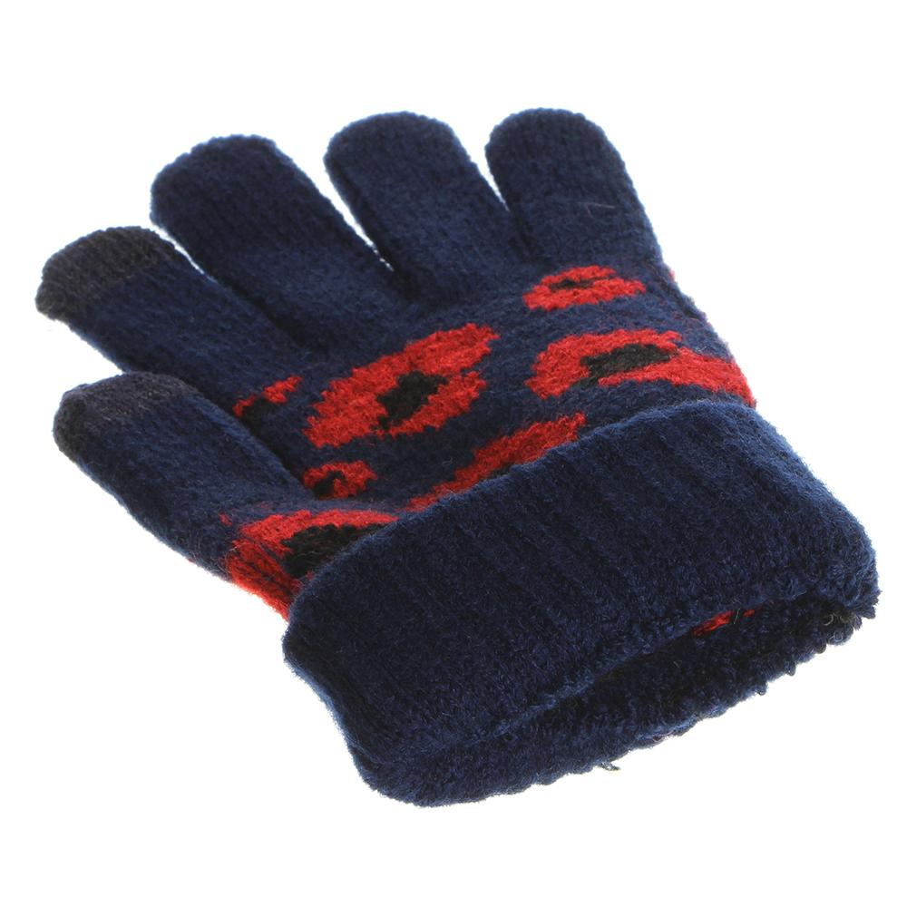 Перчатки молодежные контактные утепленные,  размер универсальный, 100% акрил, 4 цвета