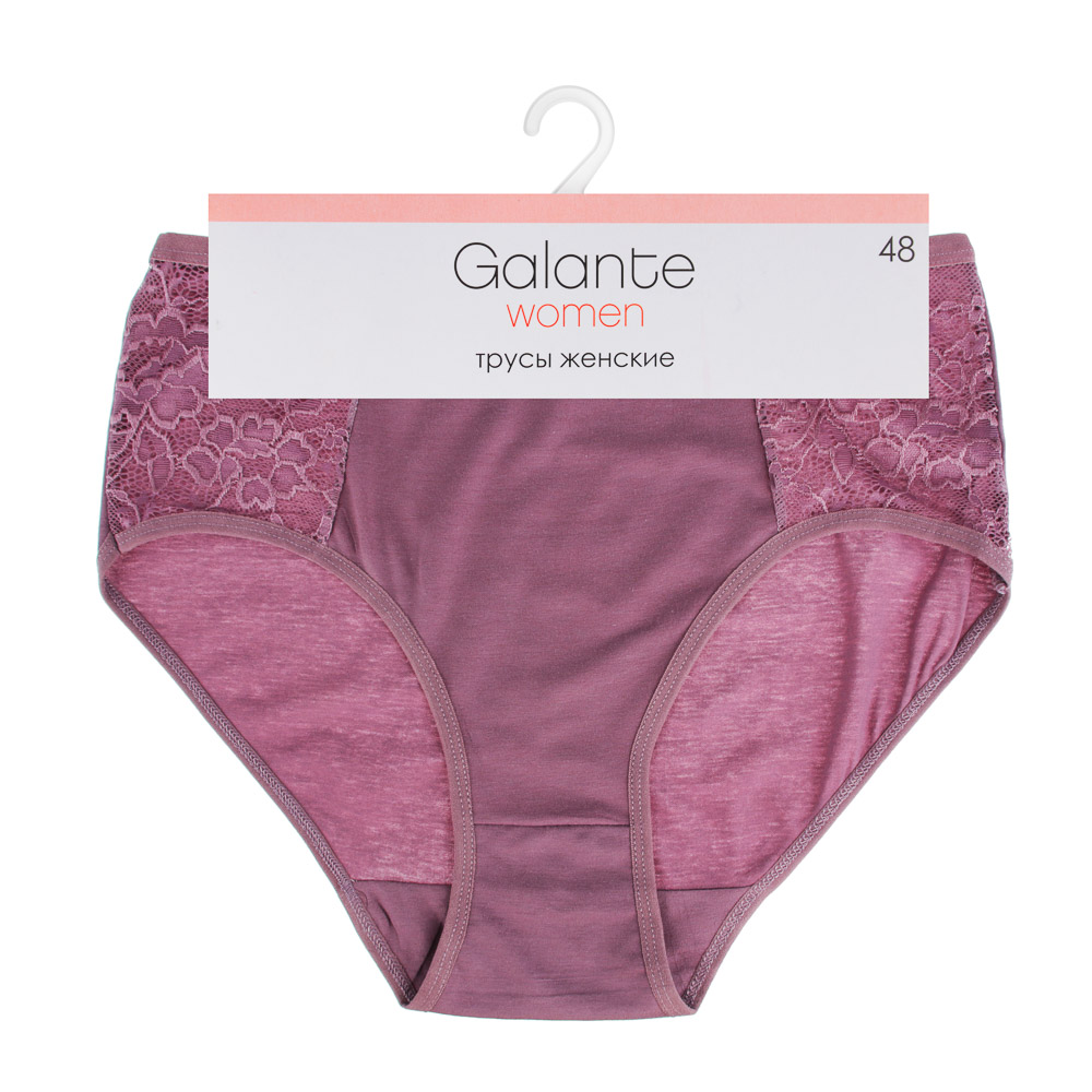 GALANTE Трусы женские макси, слипы, р-ры 48-54, 95% хлопок, 5% эластан, 2