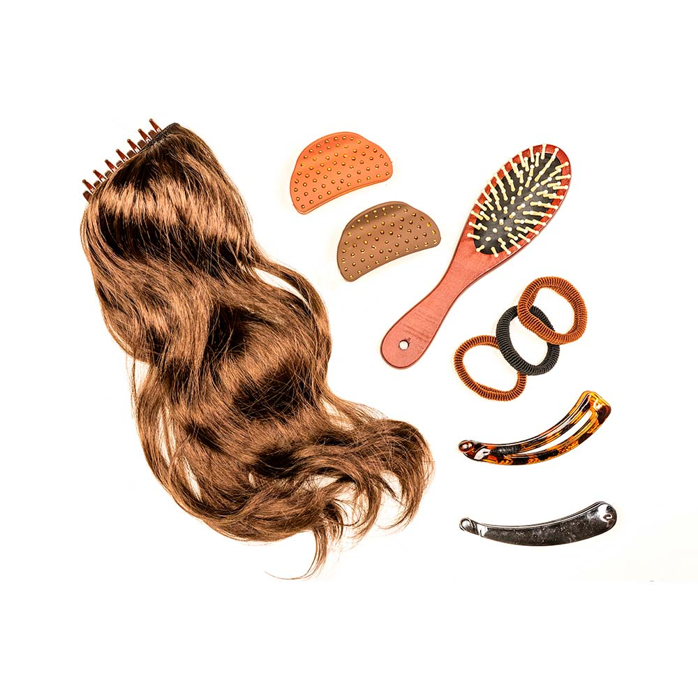 Заколка-банан для волос, 12см, пластик, 3 дизайна