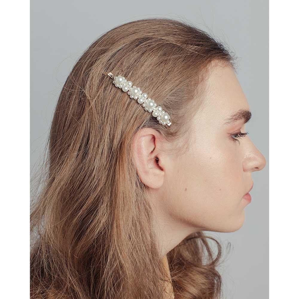Зажим для волос, 8,5см, пластик, сплав